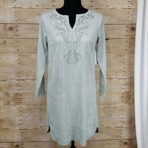 Soft Surroundings Ambrosia Faux Suede Dress